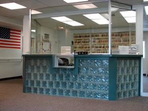 Welcome desk of Maryland Orthotics & Prosthetics office
